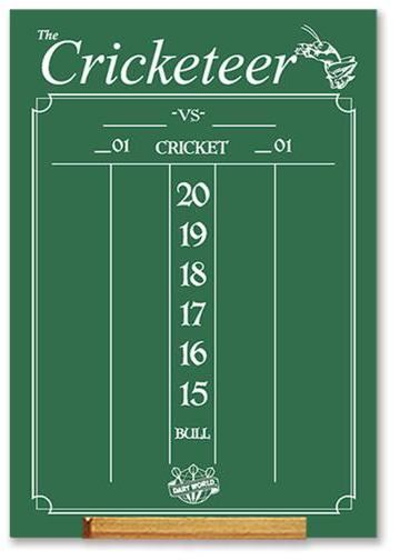 Dart World Cricketeer Large Scoreboard chalk